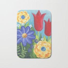 Happy Place! Secret Flower Garden by Sandy Thomson Bath Mat