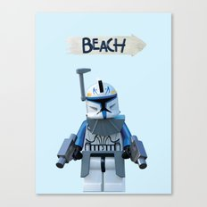 Rex at the Beach Canvas Print