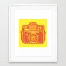 I Still Shoot Film Holga Logo - Yellow & Red Framed Art Print