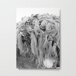 Chafing Gear Cod Fishing Nets Commercial Fisherman Shipyard Seafood Boat Nautical Rope Float Ocean Metal Print
