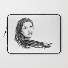 Flow (BW) - Woman Sketch Laptop Sleeve