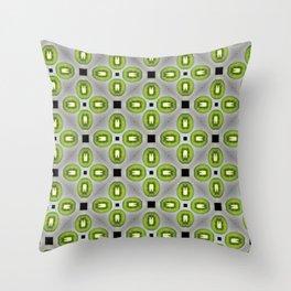 Colorful fruit pattern of fresh kiwi slices on white background. Throw Pillow