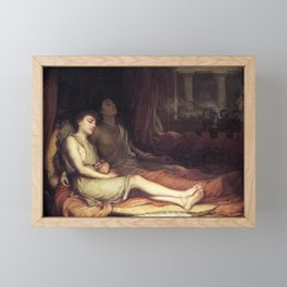 John William Waterhouse Sleep and his half-brother Death 1874 Framed Mini Art Print