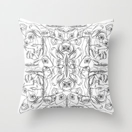 pile ou faces Throw Pillow