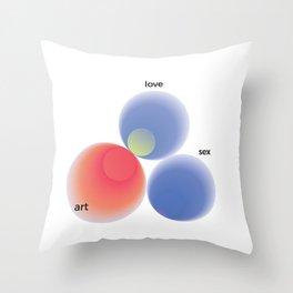 Love, art, sex Throw Pillow