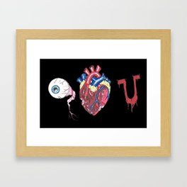 Eye Bloody Love you Framed Art Print