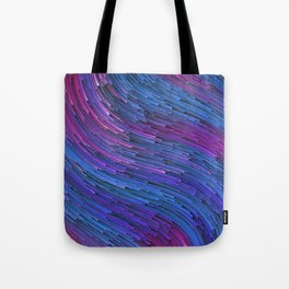 EMPTY SPACE - Abstract Digital Image Texture Glitch Art Tote Bag