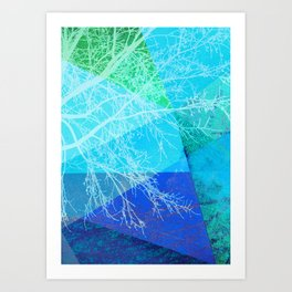 P19-C2 TREES AND TRIANGLES Art Print