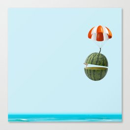 flying my watermelow Canvas Print