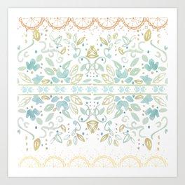 Boho floral Art Print