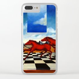 Red Stampede Clear iPhone Case
