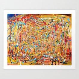 Orange Composition Art Print