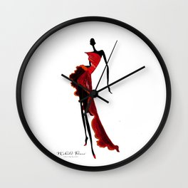 Sasha in Red Wall Clock