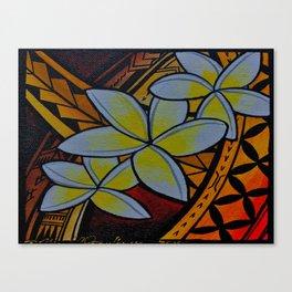 Fiery Plumerias Canvas Print