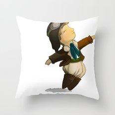 Amelia Earhart  Throw Pillow