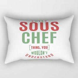 Sous Chef Thing Rectangular Pillow