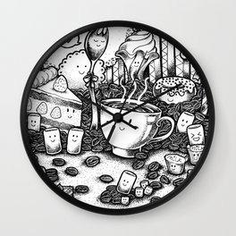 Smile coffe Wall Clock