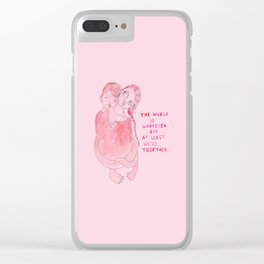 The world is whatever Clear iPhone Case