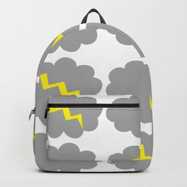 Stormy weather. Backpack