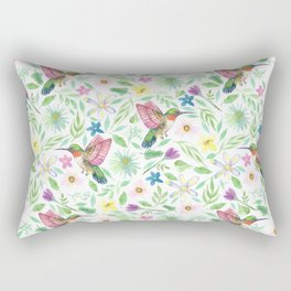 Hummingbirds in watercolor Rectangular Pillow