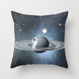space skate Throw Pillow