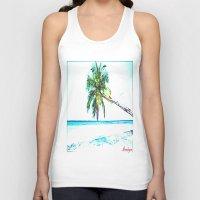 cuba Tank Tops featuring Cuba , Playa  ( Cuba , beach ) by arnedayan