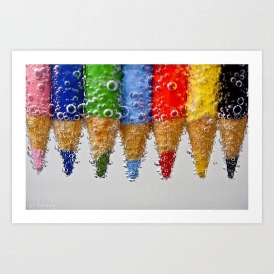 Bubble Pencils Art Print