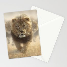Lions Running - Eat My Dust Stationery Cards