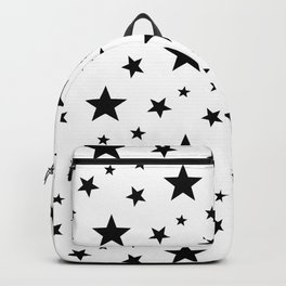Stars pattern White and Black Backpack