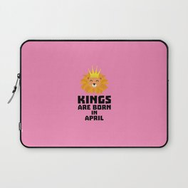 Kings are born in APRIL T-Shirt D723w Laptop Sleeve