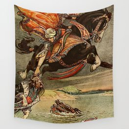 """""""Diuk Caught Churilo"""" by Frank C Pape Wall Tapestry"""