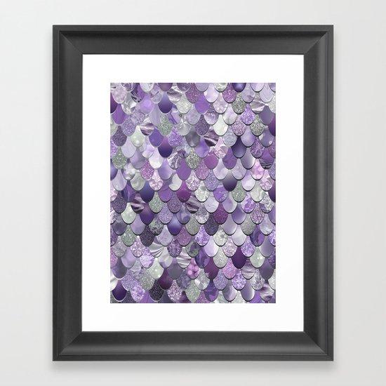 Mermaid Purple and Silver by meganmorrisart