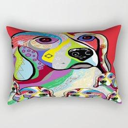 Beagle and Babies Rectangular Pillow