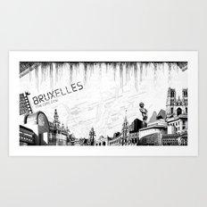 Bruxelles Art Print