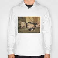 pigs Hoodies featuring Pigs' Party by Vito Fabrizio Brugnola