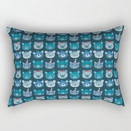 Cute Bear Faces Pattern Rectangular Pillow