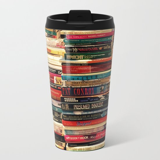 Books Metal Travel Mug