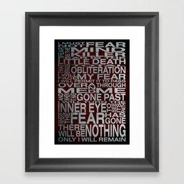 Litany Against Fear - Complete Framed Art Print