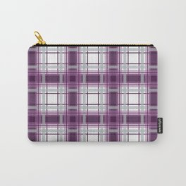 Plaid in Mauve, Pink and Gray Carry-All Pouch