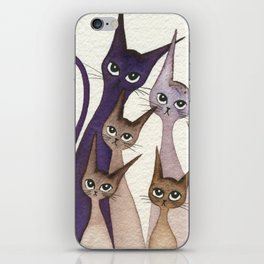 Phoenix Whimsical Cats iPhone Skin