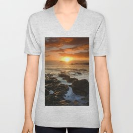 Maui Sunset Unisex V-Neck