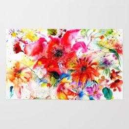 Watercolor garden II Rug