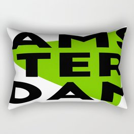 Green Amsterdam Rectangular Pillow