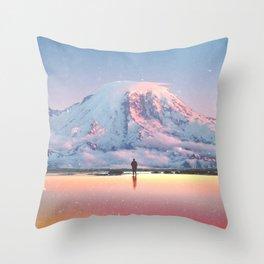 Mount Rainier Washington State Throw Pillow