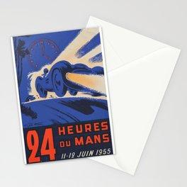 1955 Le Mans poster, vintage car poster, Le Mans poster, Stationery Cards