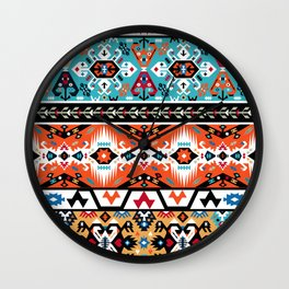 American indian ornate pattern design Wall Clock