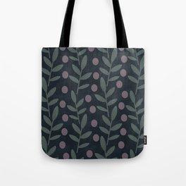 Midnight Leaves Tote Bag