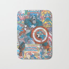 The American Superhero - Comic Art Bath Mat