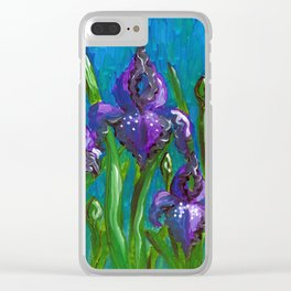 Iris by Mary Bottom Clear iPhone Case