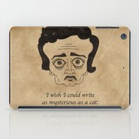 poe iPad Cases featuring Poe Cat by 2headedsnake